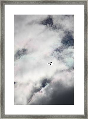 Cessna And Cotton Candy Framed Print