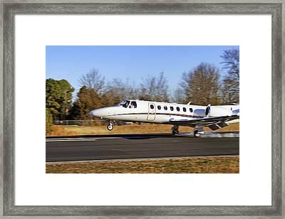 Cessna Citation Touchdown Framed Print