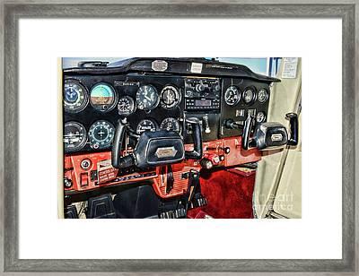 Cessna Cockpit Framed Print by Paul Ward