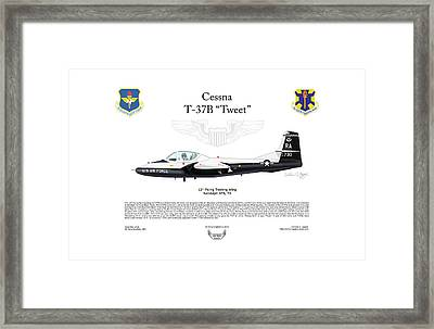 Cessna T-37b Tweet Framed Print