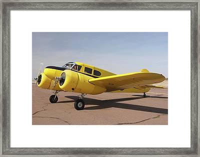 Cessna T-50 Bobcat N59188 Casa Grande Airport Arizona March 5 2011 Framed Print by Brian Lockett