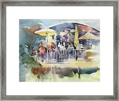 C'est La Vie Restaurant - Laguna Beach - California Framed Print