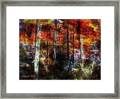 C'est L'automne Framed Print