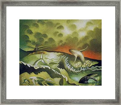 Cetacean Sunset Framed Print