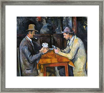 Cezanne: Card Player, C1892 Framed Print by Granger