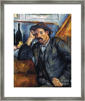 Cezanne: Pipe Smoker, 1900 Framed Print by Granger