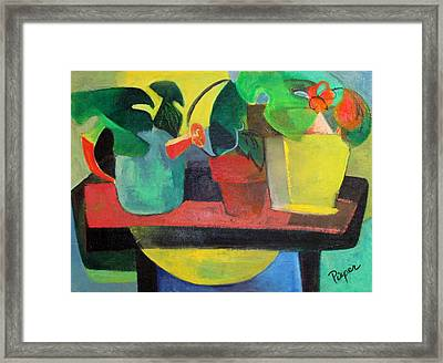 Cezanne Potting Stand Framed Print