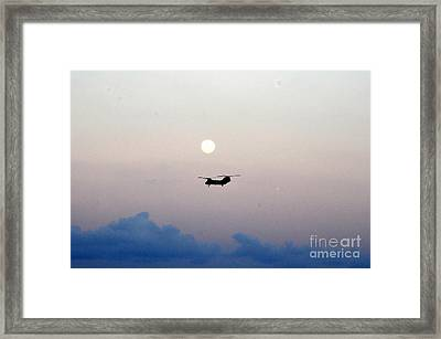 Ch-46 Sea Knight Helicopter Framed Print by Celestial Images