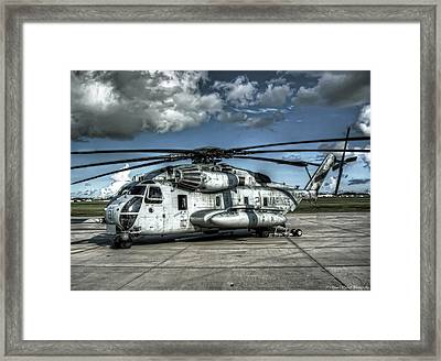 Ch-53 Super Stallion Framed Print by Ryan Wyckoff
