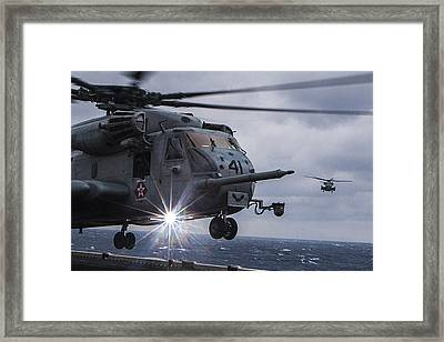 Ch-53e Super Stallion Helicopter Us Navy Framed Print by Celestial Images