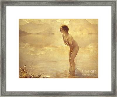 Chabas: September Morn Framed Print