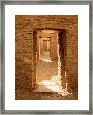 Chaco Ancient Doors   Framed Print
