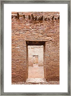 Chaco Canyon Doorways 1 Framed Print