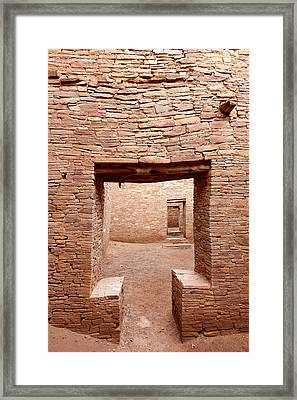 Chaco Canyon Doorways 2 Framed Print