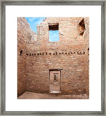 Chaco Canyon Doorways 4 Framed Print