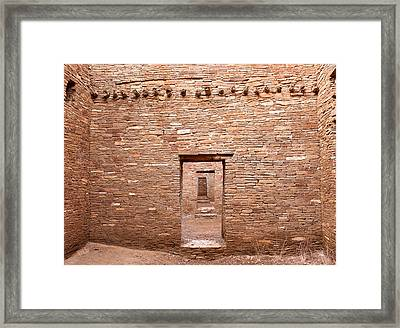 Chaco Canyon Doorways 5 Framed Print