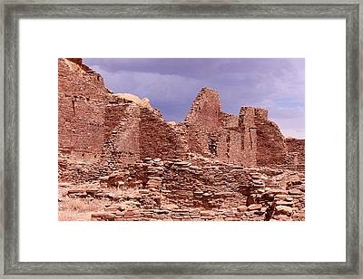Chaco Under Stormy Skies Framed Print