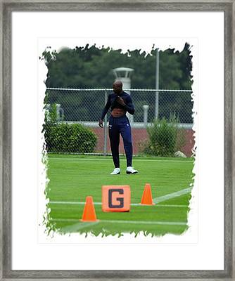 Chad Takes The Field Framed Print by Mike Martin
