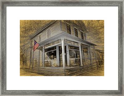Chadsworth General Store Chatsworth New Jersey Framed Print by Geraldine Scull