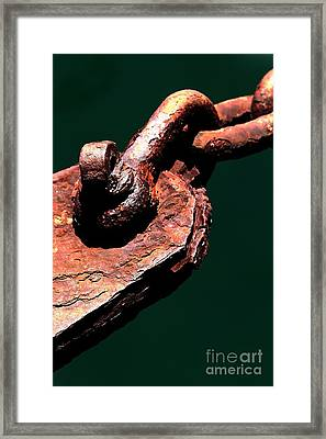Framed Print featuring the photograph Chain Age II by Stephen Mitchell