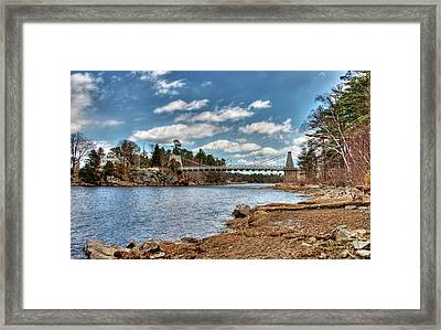 Chain Bridge On The Merrimack Framed Print
