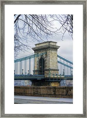Chain Bridge Pier Framed Print