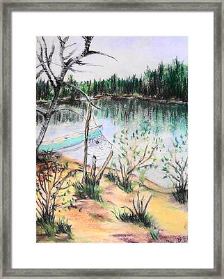 Chain Lakes Duck Mountain Mb Framed Print by Janice Robertson