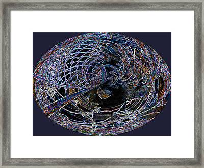 Chain Link Lace 1 Framed Print by Beverly Kimble Davis