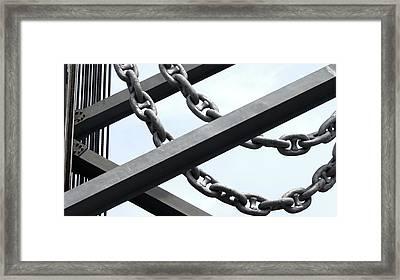 Chain Links Framed Print
