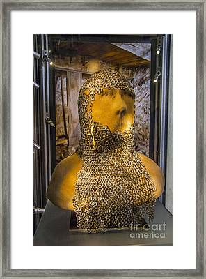 Chain Mail Coif Framed Print