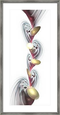 Chain Reaction Framed Print by Anastasiya Malakhova