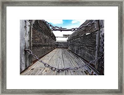Chained Framed Print by Dennis Wagner