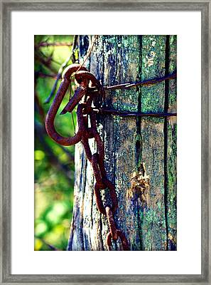Chained Post Framed Print