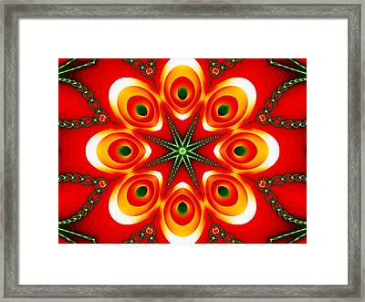 Chained Sunburst Framed Print