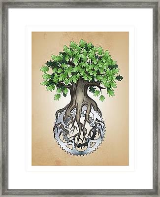 Chainring Tree Framed Print