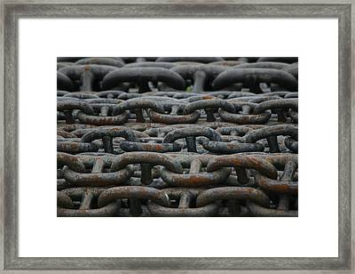 Chains Framed Print by Hans Jankowski