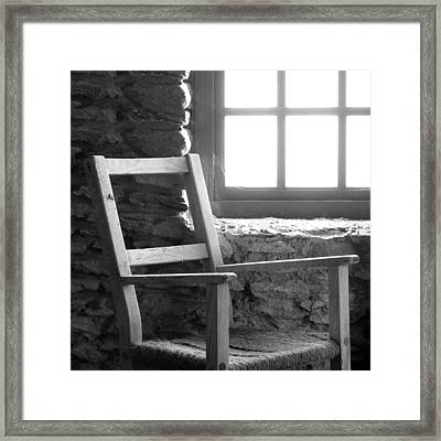 Chair By Window - Ireland Framed Print by Mike McGlothlen