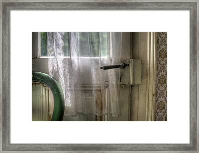 Chair Door Framed Print by Nathan Wright