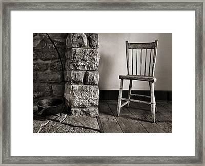 Chair - Fireplace Framed Print