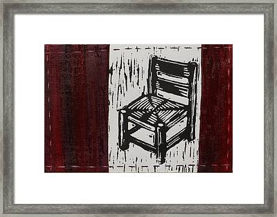 Chair I Framed Print by Peter Allan