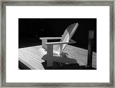 Chair In Black And White Framed Print