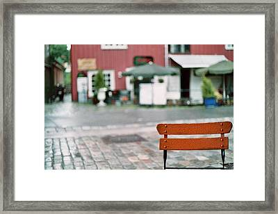 Chair In Trondheim Framed Print by Gregory Barger