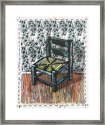 Chair Ix Framed Print by Peter Allan