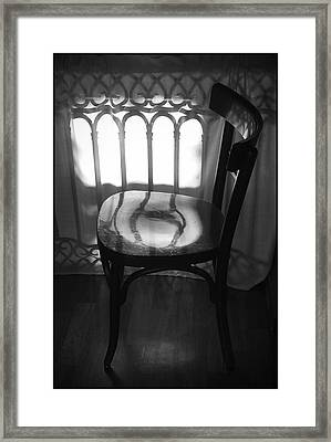 Chair Framed Print by Julia Bridget Hayes