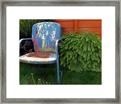 Chair Of Many Colors Framed Print by Patricia Strand