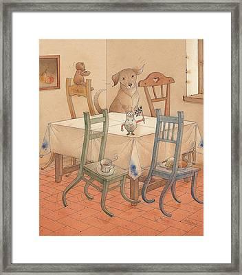 Chair Race Framed Print by Kestutis Kasparavicius