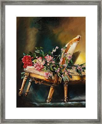 Chair Tilt Framed Print by Denise H Cooperman