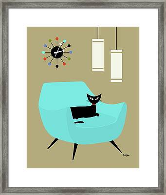 Chair With Ball Clock Framed Print