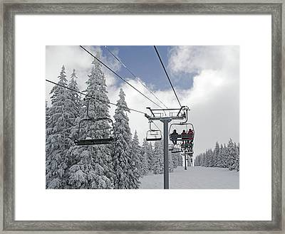 Chairlift At Vail Resort - Colorado Framed Print by Brendan Reals