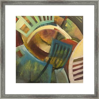 Chairs Around The Table Framed Print